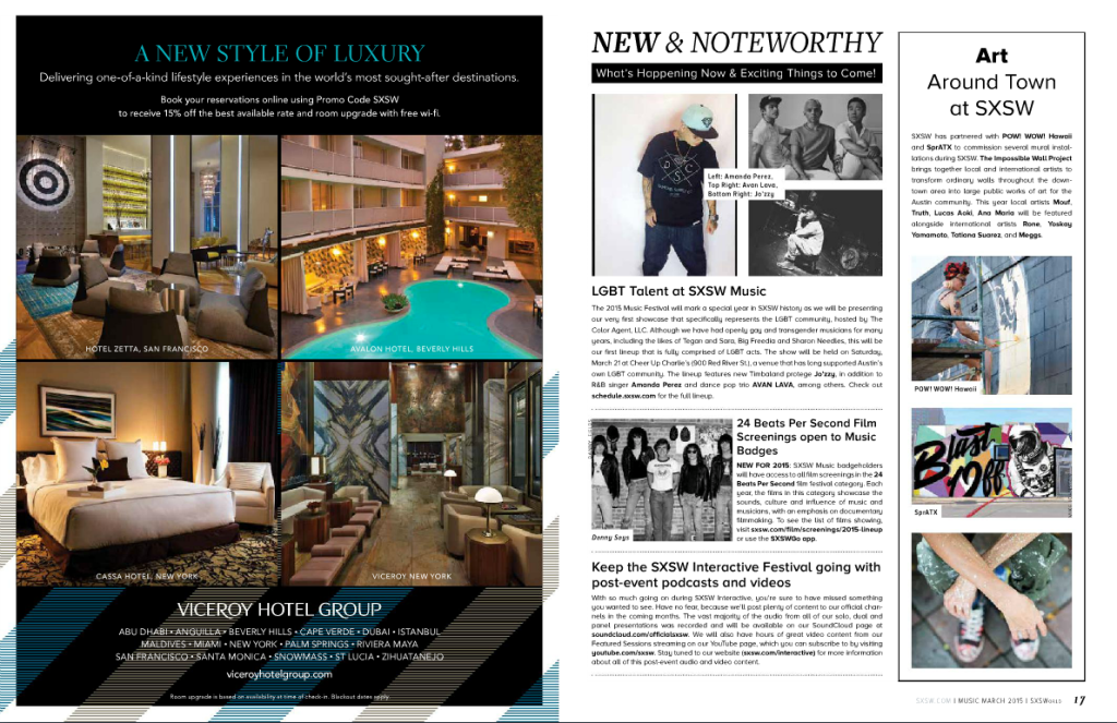 New & Noteworthy Article about The Color Agent in SXSWorld Magazine